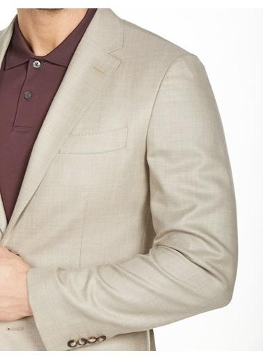 Bisse PCK20Y20123 Regular Fit 6 Drop Platinum Blazer Ceket Bej